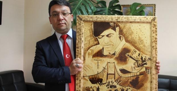 Cumhurbaşkanına tablo hediye edecek