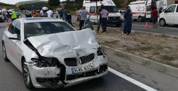 İki araç çarpıştı: 1 ölü, 1 yaralı