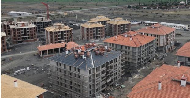 TOKİ konutlarının inşaatı devam ediyor