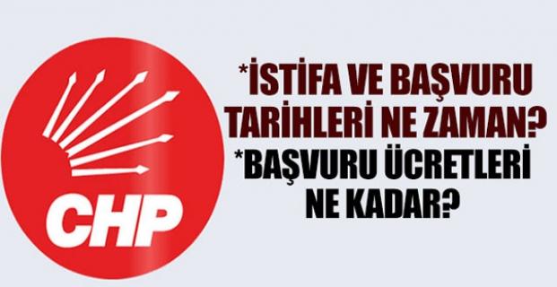 CHP'de aday adaylık süreci başladı