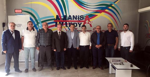 TGF heyetinden Manisa Medya'ya ziyaret