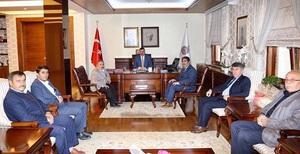 Ziraat Odası Başkanları Vali Çiftçi'yi kutladı