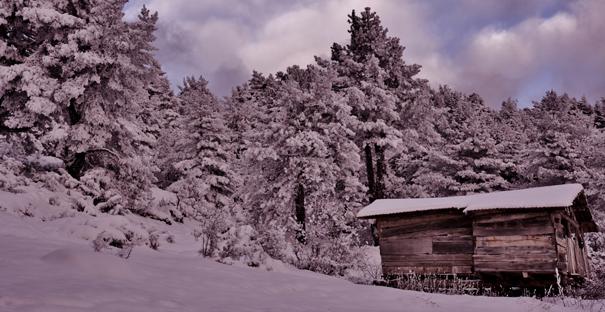 Kargı Yaylalarında kartpostallık kar manzaraları