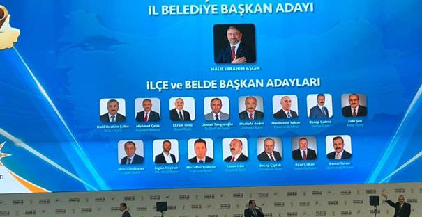 AK Parti'nin adayları tanıtıldı