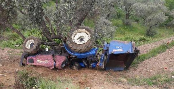 Traktör dereye yuvarlandı: 1 yaralı