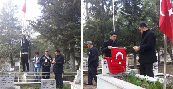 Ülkü Ocakları, Şehitliklerin bayraklarını yeniledi