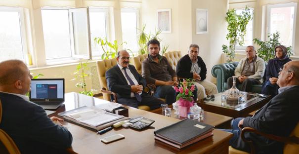 Başkan Şen'den Kaymakam Taş'a ziyaret