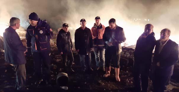 Vali Çiftçi, yangın yerini  inceledi