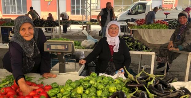 Kargı'daki yerli pazara yoğun ilgi