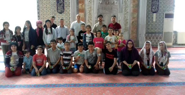 Kaymakam Taş, Yaz Kur'an Kurslarını gezdi