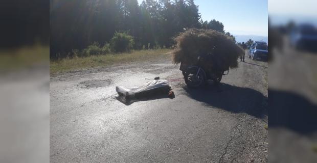 Sepetli motosikletle kaza yapan sürücü hayatını kaybetti