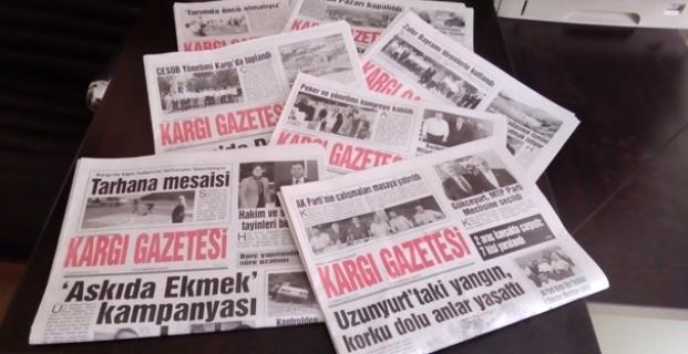 Kargı Gazetesi 4 yaşında
