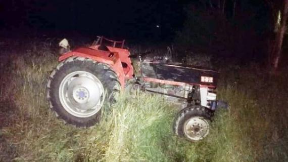 Traktör kazası: 2 yaralı