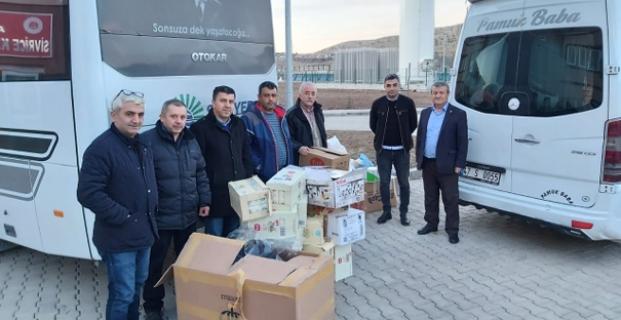 ÇORDEF'den depremzedelere yardım