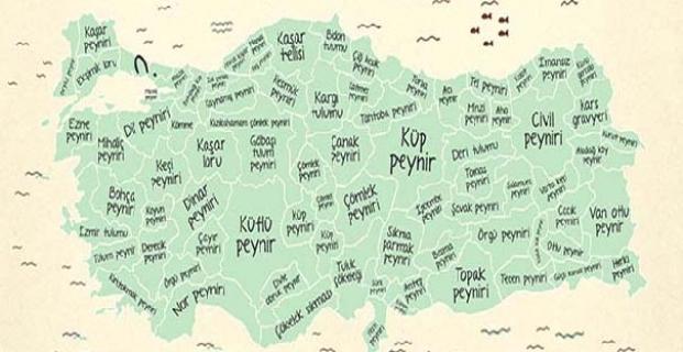 Kargı Tulumu peyniri Türkiye haritasında
