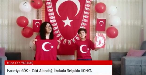 17 şehirden 21 aile 23 Nisan için video çekti