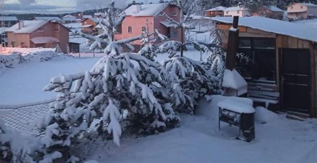 22 Mayıs'da Çorum'a lapa lapa kar yağdı