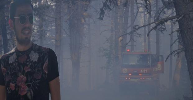 Orman yangınında yaralanan personel Ankara'ya sevk edildi