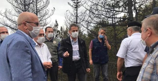 Vali'den açıklama: Yangın hala kontrol altına alınamadı