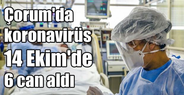 Koronavirüs Çorum'da 10 günde 33 can aldı