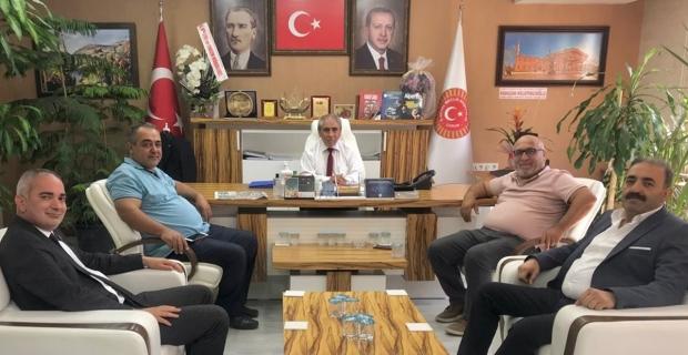 Meclis Başkanı Mehmet Bektaş'ı ziyaret ettiler