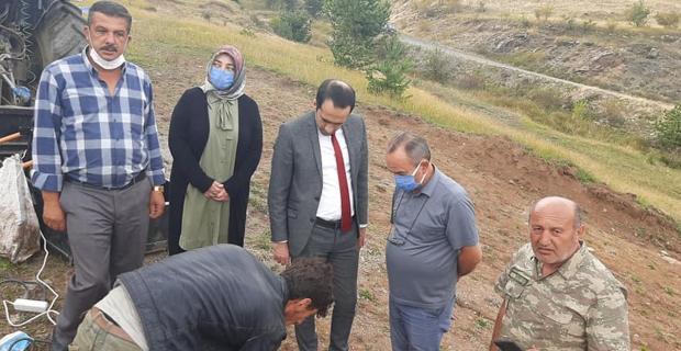 Kaymakam Uyar, Bozarmut Köyü'nde çalışmaları inceledi