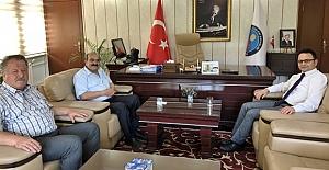 Başkan Şen'den Kaymakam Alkan'a ziyaret