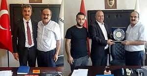 Dernek başkanlarından Başkan Şen'e ziyaret
