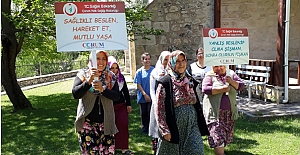 Oğuz Köylü kadınlar sağlıklı yaşam için yürüdü