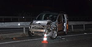 Kaza yapan araca başka otomobil çarptı: 8 yaralı