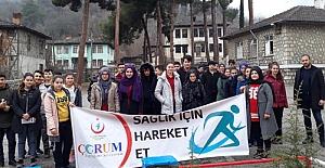 Öğrenciler, sağlıklı yaşam için yürüdü