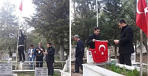 Ülkü Ocakları, Şehitliklerin bayraklarını...
