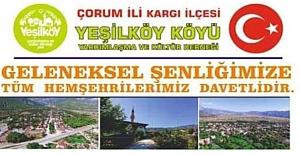 Yeşilköy'den şenliğe davet