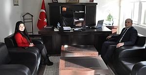 Kaymakam Taş'tan Kaymakam Karataş'a ziyaret
