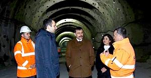 Tünellerin son halini inceledi