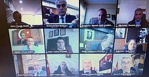 Müdürlerle e-konferanslı toplantı