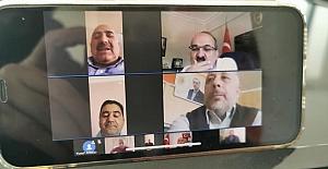 Video konferans yolu ile bayramlaştılar
