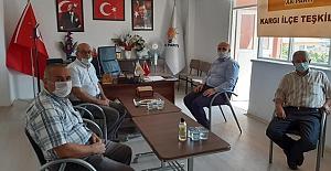 AK Parti ve MHP'ye veda ziyareti