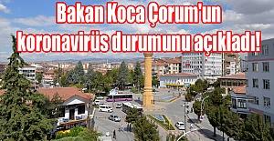 Bakan Koca Çorum'un koronavirüs durumunu açıkladı!