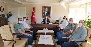 MHP'den Kaymakam Uyar'a hayırlı olsun ziyareti