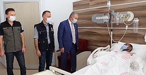 Genel Başkan'dan orman yangınında yaralan işçiye ziyaret