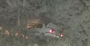 Otomobil ağaca çarparak durabildi