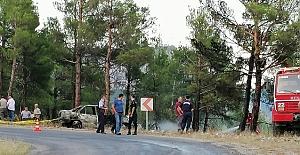 Trafik kazası orman yangınına yol açıyordu