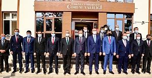 Adalet Bakanı Abdulhamid Gül'den Valiliğe ziyaret
