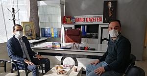 Kaymakam Uyar'dan Kargı Gazetesi'ne ziyaret