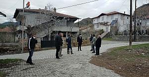 Korkutan deprem sonrası köylerde inceleme