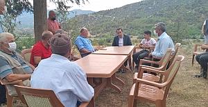 Bağözü Köyü'nde vatandaşlarla bir araya geldi