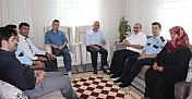 Şehit aileleri ziyaret edildi