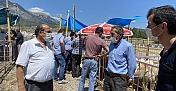 Başkan Şen vatandaşlar için kurban pazarlığı yaptı